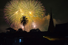 The beautiful fireworks with silhouette of Chanthaburi Old Town Waterfront in the foreground. (baddoguy) Tags: k photography silhouette architecture awe bright building exterior built structure celebration closing ceremony coconut palm tree color image community copy space cultures exploding famous place firework display flame focus on foreground gold colored horizontal house human settlement igniting local landmark long exposure majestic night no people old town outdoors single sky southeast asia stupa temple thai culture thailand unusual angle vibrant waterfront yellow