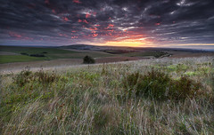 Right time right place (Through Bri`s Lens) Tags: sussexdowns sunrise hills clouds colour sky skies farm agriculture brianspicer canon5dmk3 canon1635f4 leereversegrad