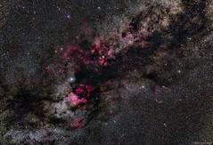 Cygnus Constellation (AstroDLJ) Tags: astrophotography universe stars sky nebula cluster photography space rgb pixinsight cygnus cygnusconstellation constellation nebulae starcluster veilnebula ngc7000 americanebula pelicannebula milkyway