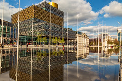 Centenary Square. (Ian Emerson (Thanks for all the comments and faves) Tags: libraryofbirmingham centenarysquare birmingham city cityscape westmidlands kaplanbirmingham water reflection foutains photography canon6d september england unitedkingdom citywalk tourism architecture