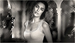 (horlo) Tags: nb bw blackandwhite noiretblanc monochrome film movies cinema portrait fonddécran wallpaper glamour actress vintage woman femme irinashayk collage