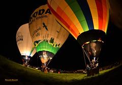 Night Show (Zdeněk Kánský) Tags: hotairballoon outdoors night flying flight balloon color colors colorful harmony summer grace show fire demonstration bohemia czechrepublic
