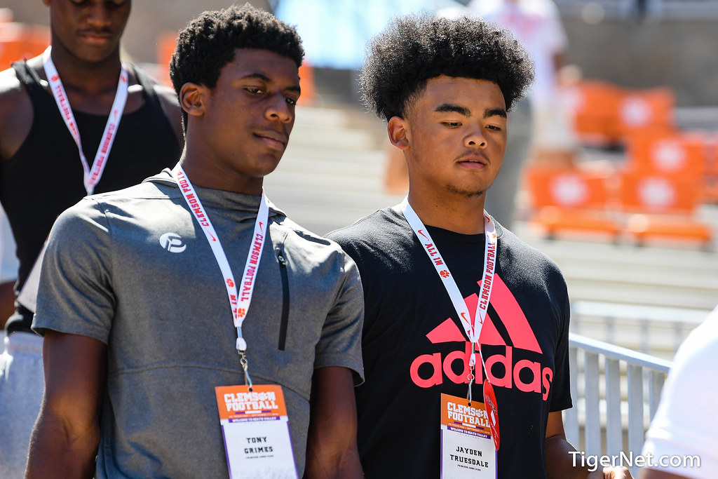 Clemson Photos: jaydentruesdale, 2019, Recruiting