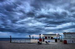 the beach (denismartin) Tags: marseillanplage sete strand sable sand beach plage playa herault sunset sun sunsetlight denismartin cloud hdr