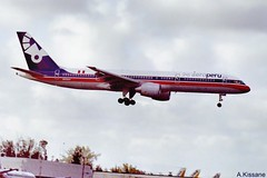 AERO PERU B757 N809AM (Adrian.Kissane) Tags: 757 boeing jet plane aircraft aeroplane aviation flight flying landing arriving sky outdoors n809am 27351 1998 b757 miami aeroperu