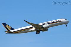 F-WZND Airbus A350 Singapore Airlines (@Eurospot) Tags: singaporeairlines fwznd airbus a350 a350900 toulouse blagnac 9vsmw
