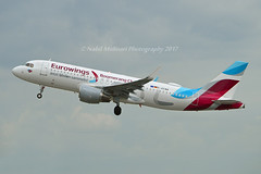 "Eurowings D-AEWM Airbus A320-214 Sharklets cn/7259 Painted in ""Boomerang Club"" special colours 12-2016 @ EDDL / DUS 16-06-2017 (Nabil Molinari Photography) Tags: eurowings daewm airbus a320214 sharklets cn7259 painted boomerangclub special colours 122016 eddl dus 16062017"