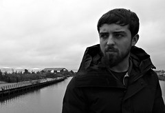 Let the music play (plot19) Tags: aaron sony son rx100 river manchester man model mood male uk england english plot19 photography portrait people salford quays quay family love light britain british blackwhite