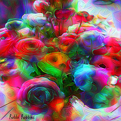 Fancy Floral (brillianthues) Tags: flowers floral nature garden abstract treatment colorful collage photography photmanuplation photoshop