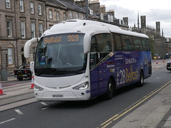 Ulsterbus, Edinburgh to Belfast liveried, Scania K360EB Irizar i6 NFZ9136 136 operating Citylink service 923 to Belfast at York Place, Edinburgh, on 3 September 2019. (Robin Dickson 1) Tags: busesedinburgh citylink ulsterbus irizari6 scaniak360eb nfz9136