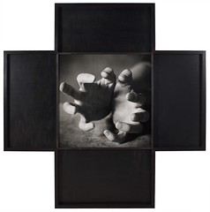 Oliver Mark - Jenny Holzer, Leipzig 1996 (OliverMarkCreativeCommons) Tags: oliver mark portrait photography contemporary blackandwhite black white jenny holzer artist