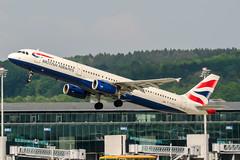 G-EUXG (PlanePixNase) Tags: zürich zurich zrh lszh kloten british britishairways airbus 321 a321 airport aircraft planespotting