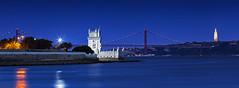 Lisbon (Panorama) (P H O T O W A H N) Tags: lissabon lisbon lisboa torrebelem christorei tejo panorama blaue stunde brücke abends ufer wahrzeichen sehenswürdigkeiten tourismus reiseziel reise ponte 25 de abril skyline stadt europa himmel fluss wasser belem