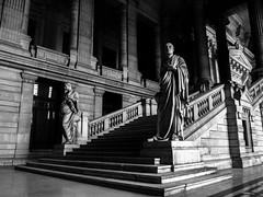 Stairs 1 (Only_314K) Tags: blackwhite blanc bruxelles black white noir noiretblanc architecture architect escalier stair statue scuplture