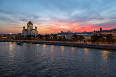 Prechistenskaya Embankment (gubanov77) Tags: sunset landscape city cityscape river moscow russia streetscape street prechistenskayaembankment embankment sky skyline goldenhour dusk twilight glow afterglow temple cathedral church moskvariver moscowphotography