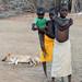 Samburu children with dog
