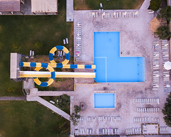 #212 Spiral splash (Timster1973 - thanks for the 18 million views!) Tags: aerial aerialphotography fly mavic drone uav quadcopter dji mavicprodrone djimavicpro up uphigh droneflying tim knifton timster1973 timknifton explore exploration perspective lookdown lookingdown color colour holiday travel swim pool slide blue deckchairs greece greek