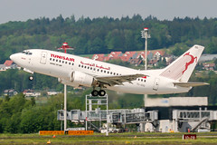 TS-IOG (PlanePixNase) Tags: zürich zurich zrh lszh kloten tunisair boeing 737 737500 b735 airport aircraft planespotting