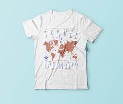 Travel the world t shirt design (arrahi) Tags: merch by amazon t shirt design car world travel sweat today smile tomorrow mom grandma grandpa dad video game holiday camping women writer father teacher