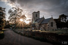 Church Of All Saints (CJD imagery) Tags: myfujifilm fujinonxf1855mmf284rlmois fujifilm fujifilmxt3 bst britishsummertime summer trees running runner sunburst clouds outdoors sun village architecturephotography architecture gradeiilisted churchofengland anglicanparishchurch church churchofallsaints hertfordshire willian england gb greatbritain uk unitedkingdom