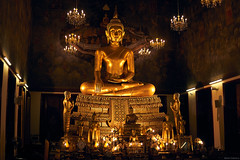 Golden Buda Gautama (santicabrero) Tags: tailandia thailand vacaciones vacations sonya6000 sonyalpha bangkok oro gold dorado golden efigie effigy estatua statue templo temple budagautama watratchanatdaram happyplanet asiafavorites