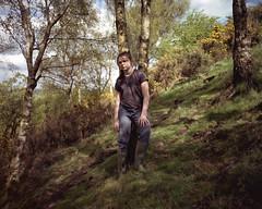 Maia, Castle Hill, 2017 (BennehBoy) Tags: 000490 wray 89mm wideopen speedgraphic graflex largeformat fujifilm 160ns huddersfield castlehill