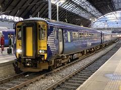 156458 Glasgow Queen Street 3/9/2019 (Martin Coles) Tags: scotrail trains train rail railways railway glasgow class156 supersprinter glasgowqueenstreet 156458