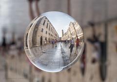 I see Dubrovnik in my crystal ball (marianna armata) Tags: dubrovnik croatia crystal glass sphere ball city reflection distortion magic hand urban mariannaarmata