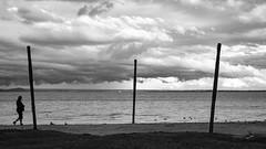 (zedspics) Tags: strand beach balaton blackwhite bw balatongyörök magyarország monochrome hungary hongarije ungarn plattensee zedspics 1909 cloudy clouds