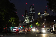 The City from Whitechapel Road (London Less Travelled) Tags: uk unitedkingdom britain england london eastlondon eastend towerhamlets street urban city suburb suburbs suburban suburbia night dark light whitechapel building traffic road