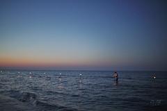 Lighting up the lanterns (velenux) Tags: pesaro sanlorenzo notte night stellecadenti shootingstars alumedicandela mare sea adriatico spiaggia beach shore lanterns lumini candele candles saintlawrence