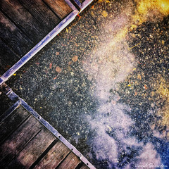 Sky Larking (Dave Snowdon (Wipeout Dave)) Tags: davidsnowdonphotography abstract lake sky blossom jetty clouds kaukajärvi tampere finland iphone iphonese creative