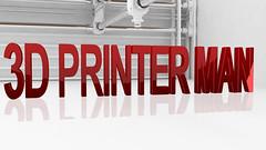 3d Printer Man Logo2 (3DPrinterman) Tags: dprinted prusa printed mk3 timelapse props octoprint octolapse