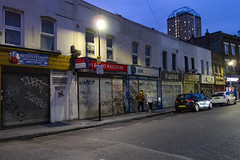 Cavell Street, Whitechapel (London Less Travelled) Tags: uk unitedkingdom britain england london eastlondon eastend towerhamlets street urban city suburb suburbs suburban suburbia night dark light whitechapel shop