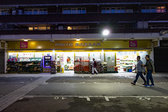 Priyo Bazaar, Watney Street Market (London Less Travelled) Tags: uk unitedkingdom britain england london eastlondon eastend towerhamlets street urban city suburb suburbs suburban suburbia night dark light shadwell whitechapel watneystreet market shop