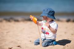 Beach Discoveries (Steven Robinson Pictures) Tags: beach boy cute nikon d800 portrait 135mmf2dcnikkor prime environmentalportrait outdoors summer sunny hat beautiful explore scotland coastal shore sea sand pacifier