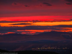 After sunset sky with the Rhine valley and the Vosges (Steppenwolf33) Tags: rhine vosges valley sunset dawn twilight sehringen badenweiler steppenwolf33 blackforest mountain