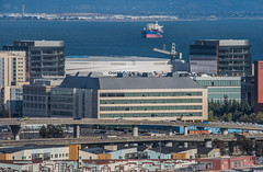 chase center nestled in (pbo31) Tags: sanfrancisco california city nikon d810 color september 2019 urban boury pbo31 civiccenter patrix siemer foxplaza over skyline construction crane missionbay chase center arena rooftops overpass highway 280 ramp ucsf medicalcenter ship container bay