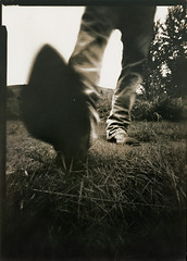 Damn Ol' Coyotes And Me (micalngelo) Tags: analog analogphotography papernegative pinhole pinholephotography pinholecamera largeformatpinhole lomography lomojunkie boots
