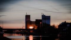Flowermill Geel - sunset (vale0065) Tags: bloemmolens geel sas8 sluis zonsondergang flowermill sunset colorful industrial industrie canal kanaal bridge brug tenaard