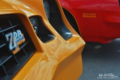 Decal-era Z28 (Hi-Fi Fotos) Tags: yellow z28 camaro chevy vintage 70s 1978 grille badge retro detail american pony classiccar nikon d7200 dx hififotos hallewell