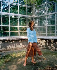 Ludmila (belousovph) Tags: kodak portra portra400 400 iso mediumformat analog film 120 mamiya rb prosd light russia atmospheric sky square classic colour girl model hasselblad x5
