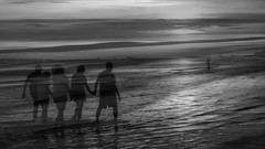 Into the Great Beyond Dreamscape Series (Ann Kunz) Tags: blackandwhite beach composite ocean abstract people florida ngysaex sky