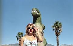 Cabazon Dino with Portra 160! (OutrageousOmar) Tags: filmcamera vintagecamera filmphoto analogphotography ishootfilm filmphotography portra160ratedat100 portra160 35mmfilm 35mm film