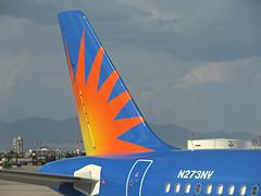 ALLEGIANT A320-214 N273NV (kenjet) Tags: allegiant g4 273nv a320214 alitalia airone eidsd airbus 320 a320 las lv nevada lasvegas klas mccarran lasvegasmccarran logo sun orange tail