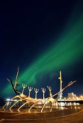 極光魚骨 (Sophie-Lin) Tags: thesunvoyager 雷克雅維克港口 冰島 iceland reykjavík sólfar 冰島極光 aurora