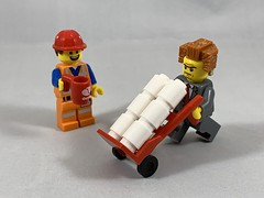 2019-252 - National Boss/Employee Exchange Day (Steve Schar) Tags: 019 wisconsin sunprairie iphone iphonexs project365 lego minifigure nationalbossemployeeexchangeday emmet masterbuilder presidentbusiness octan handtruck