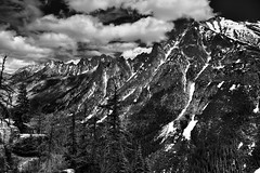 What a Beautiful Range of Mountains! (Black & White)