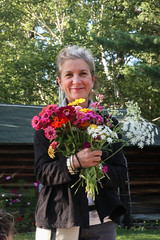 2019-8-13 Fresh picked flowers for the dinner table