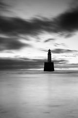 Rattray Head Lighthouse (PeskyMesky) Tags: rattrayhead lighthouse aberdeenshire scotland landscape longexposure monochrome blackandwhite canon canon5d eos
